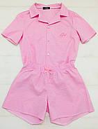 Хлопковая пижама шорты рубашка, фото 6