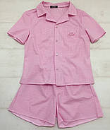 Хлопковая пижама шорты рубашка, фото 7