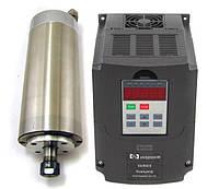 Шпиндель 3 кВт с водяным охлаждением + частотник 3 кВт