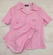 Нежная женская пижама шорты рубашка, фото 4
