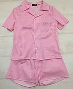Нежная женская пижама шорты рубашка, фото 7