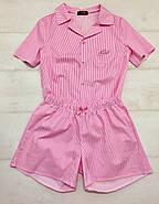 Женская пижама шорты рубашка, фото 4