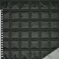 """Ткань плащевая стеганая черная матовая """"квадраты"""" ш.143 (13601.004)"""