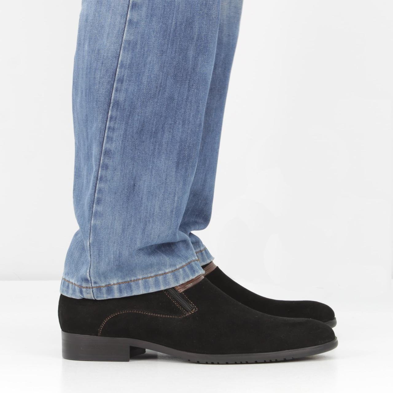 Кожаные Черные Ботинки (весна-осень) 8a1e9bd49ded2