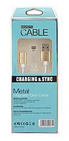 Магнитный кабель для Android Magnetic micro USB DM-M15 Gold