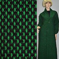 Ткань букле-рогожка черная с зеленым ш.140 2ad150128aeb4