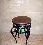 Пуф круглый кованый черный, фото 4