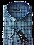 Мужские рубашки Gelix 1267002 в клетку зеленые, фото 5