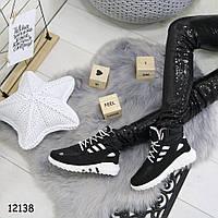 Высокие зимние кроссовки черные женские  р. 40, 41, фото 1