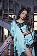 Шикарная шелковая  пижама для дома и сна, фото 4