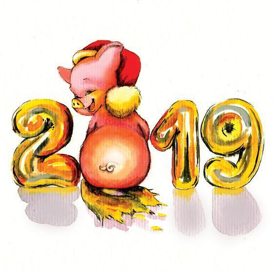 Символ 2019 года свинка