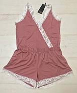 Шикарная вискозная пижама майка шортики, фото 3
