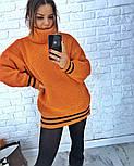 Женская теплая вязаная туника с полосками (в расцветках), фото 6