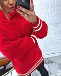Женская теплая вязаная туника с полосками (в расцветках), фото 7