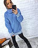 Женская теплая вязаная туника с полосками (в расцветках), фото 10
