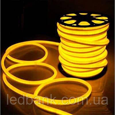 Светодиодный гибкий неон 220В 2835 120 LED Neon Flex IP65 Желтый