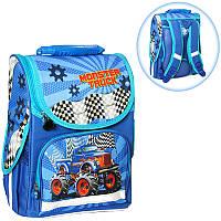 Ранец (рюкзак) - короб ортопедический для мальчика - Машина джип Монстер, размер Smile 988306