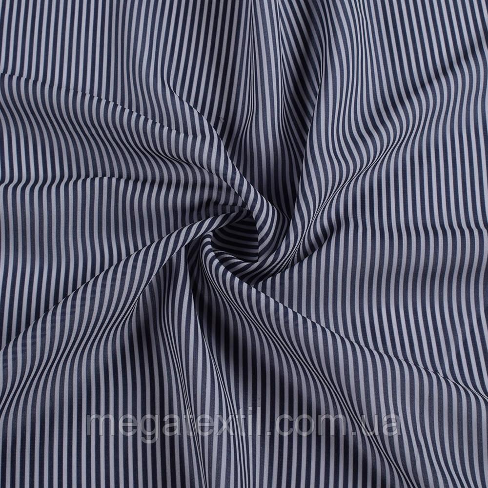 Ткань рубашечная в сине-серую полоску 2мм, ш.150 ( 14217.003 )
