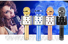 "Портативный Микрофон Караоке "" WSTER-WS 858 ""/ MicroSD / FM / USB / AUX"