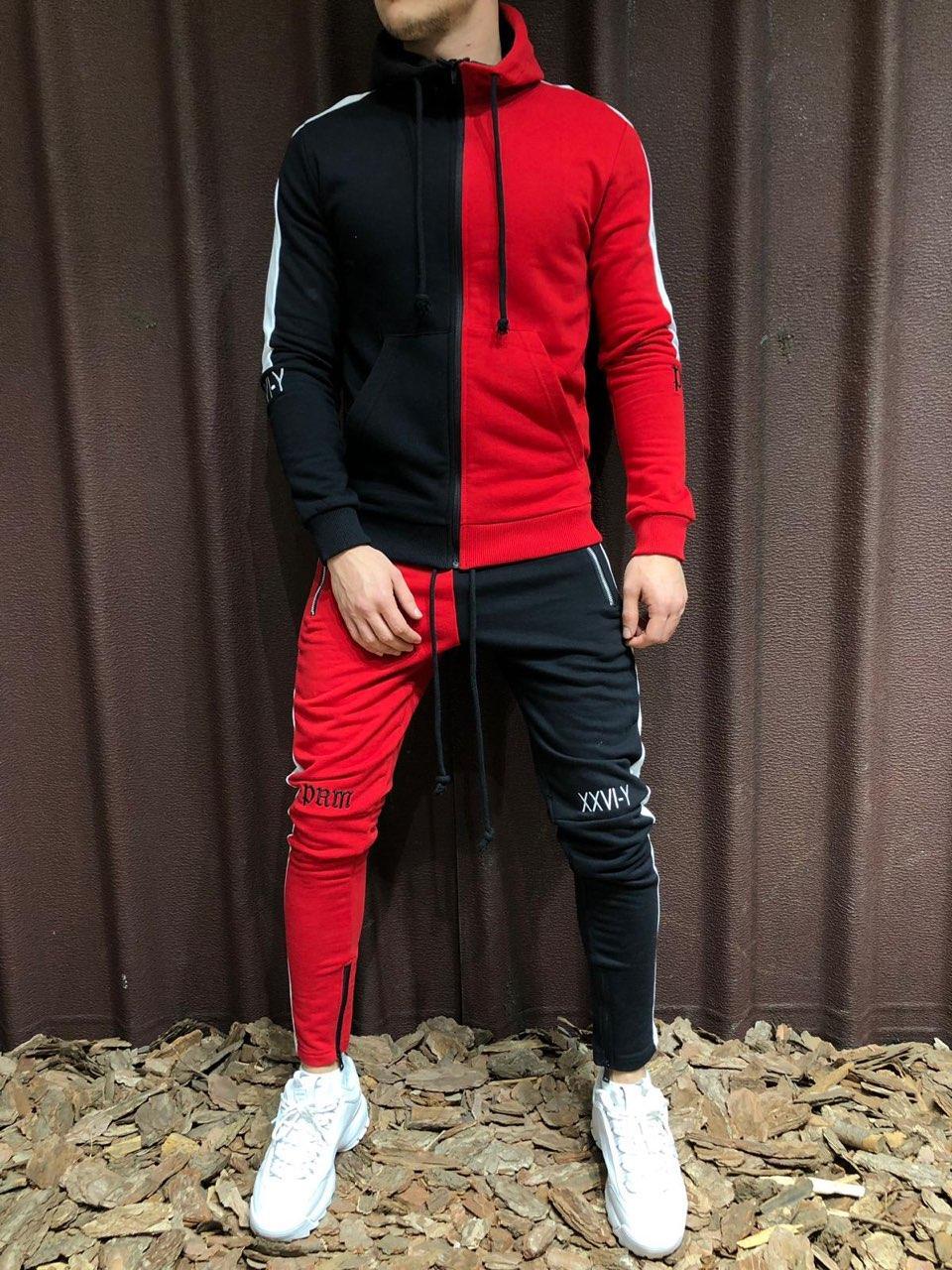😜Мужской спортивный костюм (красный)