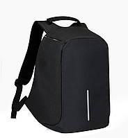 Рюкзак АНТИВОР Bobby c защитой от карманников и с USB зарядным устройством черный
