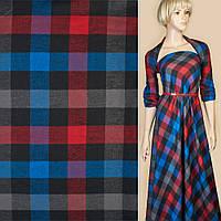 Шотландка черная в красно-синюю клетку ш.150 ( 14232.003 )