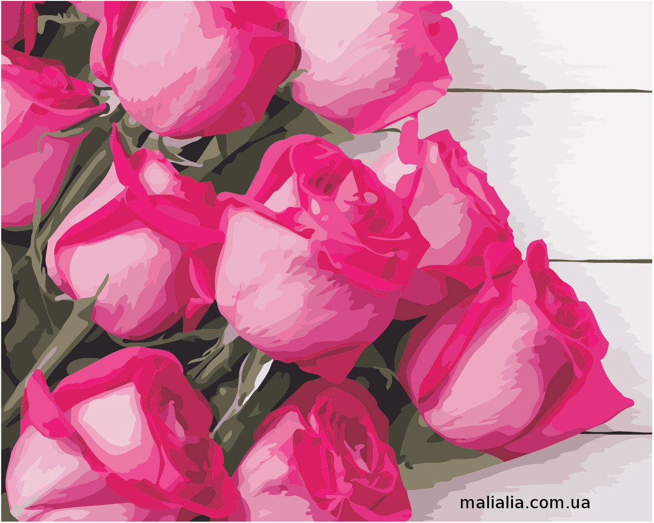 Картины по номерам 40*50 см В КОРОБКЕ Благородные розы Artstory