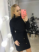 Женское зимнее платье с хомутом, фото 1