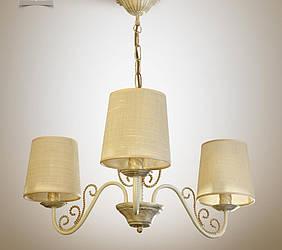 Люстра с абажурами в стиле прованс для небольшой комнаты  11503-3
