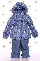Демисезонный комбинезон голубой снеговик