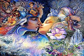 """Набор алмазной вышивки (мозаики) """"Поцелуй"""". Художник Josephine Wall (75х50)см"""