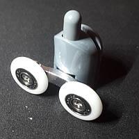 Ролик душевой кабины (В-43D) двойной,нижний,диаметр колеса-19мм,23мм,26мм,28мм