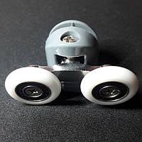 Ролик  душевой кабины (В-43С) двойной,верхний,диаметр колеса 19мм,23мм,26мм,28мм