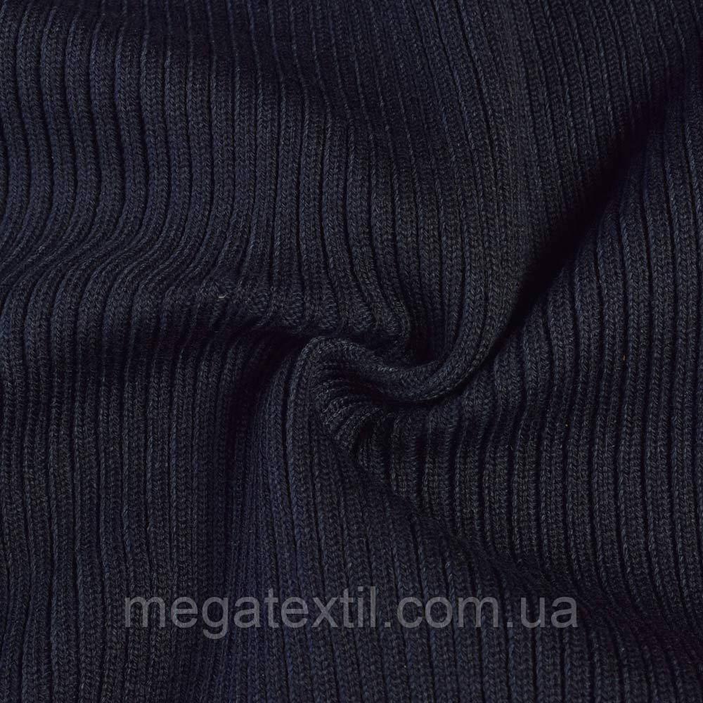 c93cd9e8045f Трикотажное полотно резинка синее темное, ш.60 купить оптом и в ...