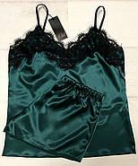 Домашний шелковый комплект  майка и шортики, фото 4