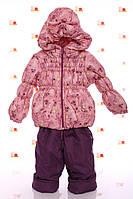 Демисезонный комбинезон розовый Baby