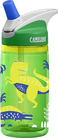 Дитяча термобутылка CamelBak eddy Kids Insulated 0.4 L Green Dinos, фото 2