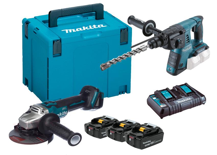 Набор инструментов Makita DLXMUA263 + 3 акб 18 V 5 Ah + з/у + MakPac