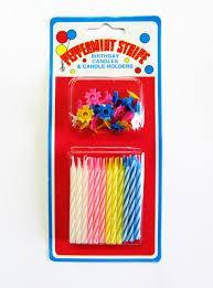 Набор маленьких разноцветных свечей  для торта 24 шт