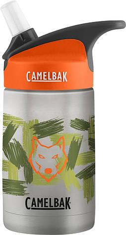 Детская термобутылка CamelBak eddy Kids Vacuum Stainless 0.4L из нержавеющей стали, фото 2
