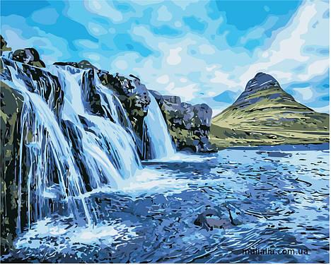 Картины по номерам 40*50 см В КОРОБКЕ Водопады Artstory