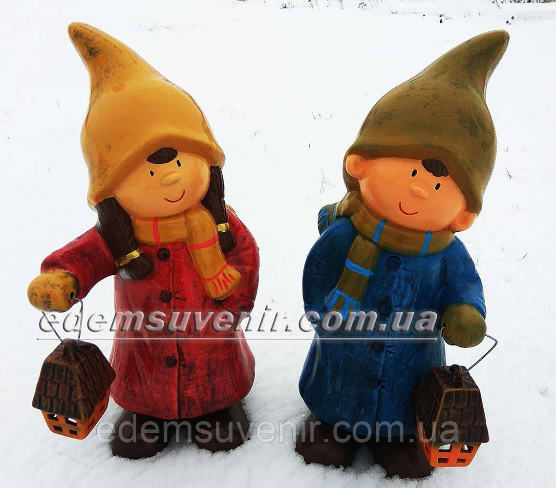 Фигура Кай и Герда с фонарем