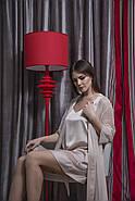 Нежный шелковый комплект халат и пеньюар, фото 3