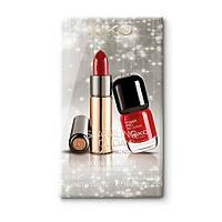 Подарочный набор для макияжа: помада и лак для ногтей KIKO SPARKLING HOLIDAY GLAM CHIC KIT 02