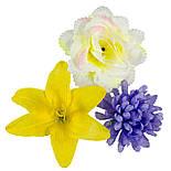 Букет Коктейль  роз, лилий и хризантем, 48см (10 шт в уп), фото 4