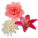 Букет Коктейль  роз, лилий и хризантем, 48см (10 шт в уп), фото 5