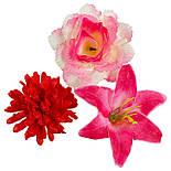 Букет Коктейль  роз, лилий и хризантем, 48см (10 шт в уп), фото 6