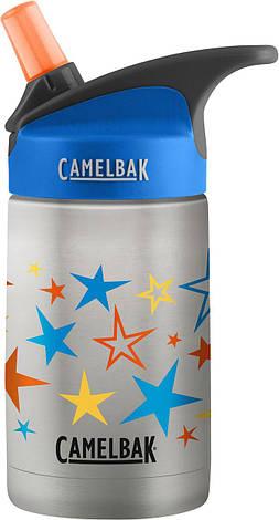 Детская термобутылка CamelBak eddy Kids Vacuum Stainless 0.4L из нержавеющей стали Retro Stars, фото 2