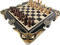 Резные шахматы и нарды,ручная работа