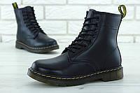 Мужские зимние ботинки Dr. Martens (в стиле Martens) черные, натуральная кожа, мех
